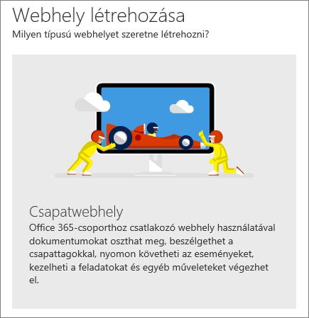 SharePoint Office 365 Webhely létrehozása