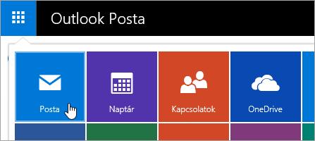 Képernyőkép a Posta csempét az Alkalmazásindítóban.