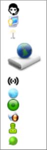 Előre gyártott grafikai elemeket (sprite-okat) tartalmazó fájl képernyőképe