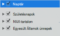 Naptár kategóriákhoz