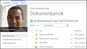 SharePoint 2013 – OneDrive Vállalati verzió