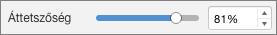 Mac PowerPoint – Átlátszóság csúszka