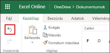 Az előző rendezés visszavonásához használja az Excel alkalmazás Visszavonás gombját a Kezdőlapon