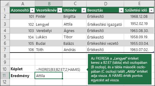 FKERES – példa 1