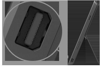 Mini DisplayPort a Surface Pro és a Surface Pro 2 eszközön