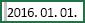 Cella, amelyben ki van jelölve a 2016.01.01. dátum előtti szóköz