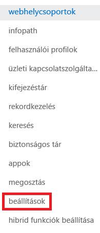 Képernyőkép: a webhelycsoportok munkaablak