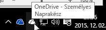 """""""OneDrive – személyes"""" szinkronizálási ügyfélalkalmazás"""