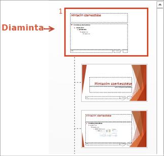 Diaminta kijelölése