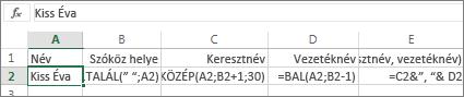 A fordított sorrendben írt neveket szokványos sorrendűre alakító képletek