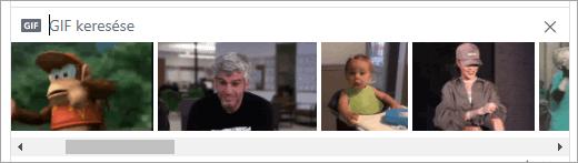 A rendelkezésre álló GIF-ek listája