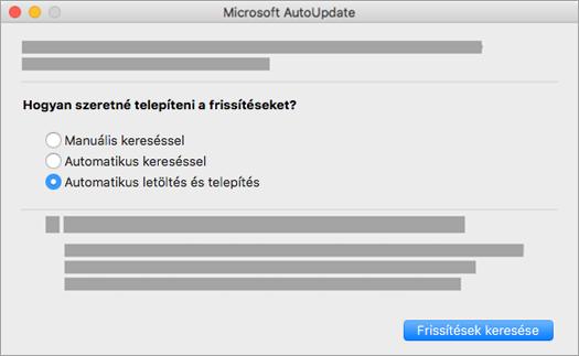 Microsoft automatikus frissítés Machez