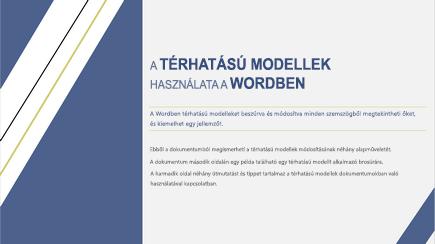 Képernyőkép egy 3D Word-sablon borítójáról