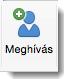 A Meghívás ikon a Szervező – Értekezlet lapon jelenik meg.