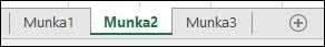 Az Excel munkalapfüleinek képe