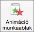 A menüszalag Animációk ablaktábla gombjával megjelenítheti vagy elrejtheti az animációs ablaktáblát.