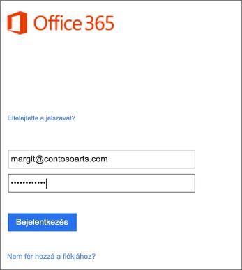 Bejelentkezés a szervezeti fiókba az Outlookban