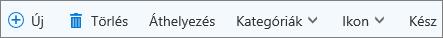 Az Outlook.com Feladatok parancssávja