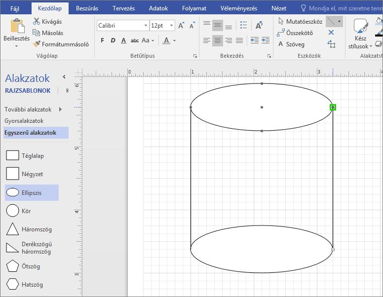 Az alakzat befejezéséhez rajzoljon kézzel vonalakat.