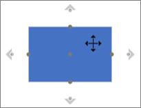 Az alakzat automatikus csatlakozási pontjainak megjelenítése