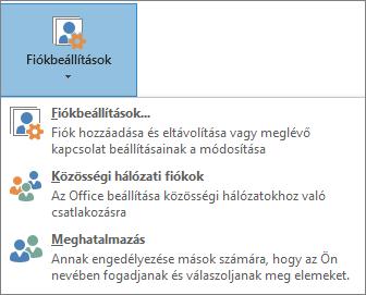 Meghatalmazott beállítása az Outlookban