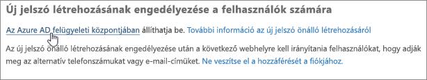 A hivatkozásra kattintva nyissa meg az Azure AD felügyeleti központot.