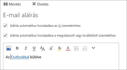 Képernyőkép az aláírási képernyőről.