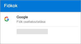 Előfordulhat, hogy az Android Outlook automatikusan megkeresi a Gmail-fiókját.