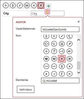 Egyéni vezérlők felvétele Access-appban