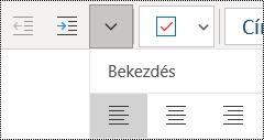Bekezdések balra igazítása a Windows 10 OneNote appban
