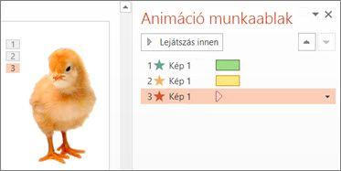 Több animáció alkalmazása egy objektumra