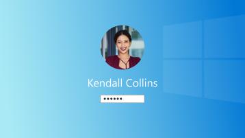 A Windows bejelentkezési oldalának képe