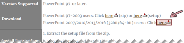A LiveWeb bővítmény beszerzése erről a letöltési lapról