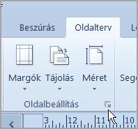 Page Setup launcher