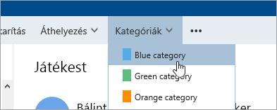 Képernyőkép: a kategóriák gomb