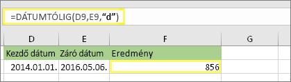 """= DÁTUMTÓLIG (D9; ben; """"d"""") az 856 eredménye"""