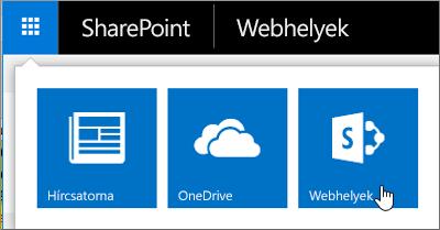 Válassza a lap bal felső sarkában az alkalmazásindítót, majd a Webhelyek csempét.