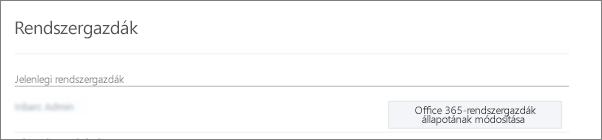 Képernyőkép: igazolt rendszergazda fiókja, amely szinkronizálva van az Office 365 globális rendszergazdájaként