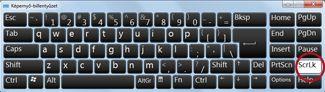A Windows képernyő-billentyűzete a Scroll Lock billentyűvel