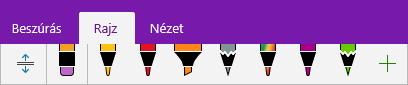 Egyéni tollak a OneNote tollgyűjteményében