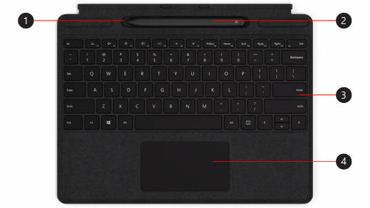 Surface Pro X Signature billentyűzet Slim tollal