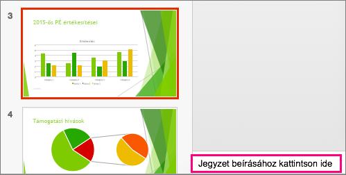 A Mac PowerPoint 2016 Jegyzetek ablaktábláját ábrázolja