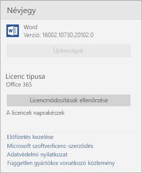 A Word Mobile ablakról