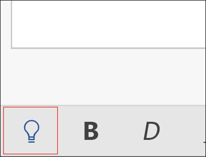 A Mutasd meg funkció aktiválásához kattintson a villanykörtére.