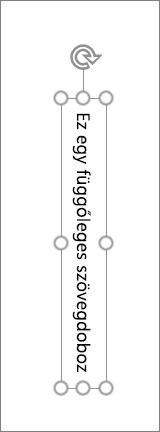 Függőleges szöveg függőleges szövegmezőben