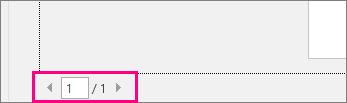 A Nyomtatás lap a dokumentum oldalainak előnézetét léptető nyilakkal (kiemelve).