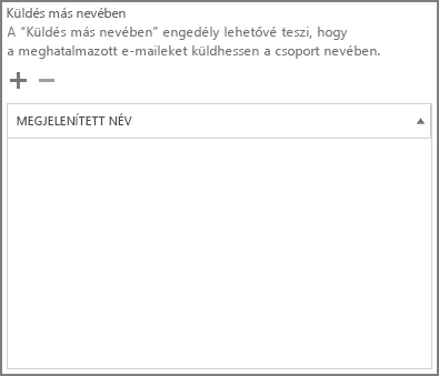 Képernyőkép: Kattintson a pluszjelre azon felhasználók hozzáadásához, akiknek Office 365-csoportként szeretne üzenetet küldeni