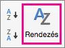 Az Excel-adatok lapon válassza a Rendezést