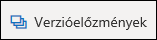 A OneDrive menüszalagjának korábbi verziók gombja