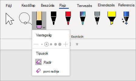 Point Eraser pen tool